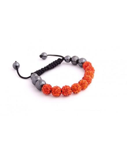 Náramek Shamballa S1 Orange