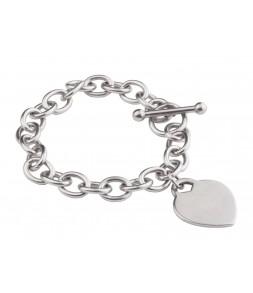 Náramek z chirurgické oceli Heart Fashion Jewelry 00189
